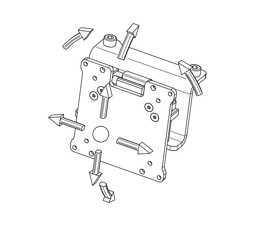 Vario Vesa Adapter kit (3 pieces)